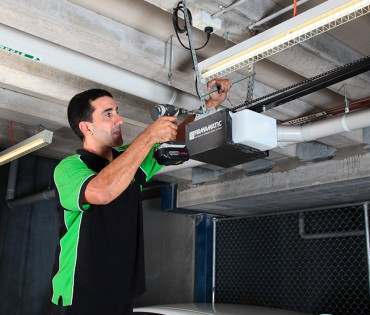 Installation of automatic garage door opener