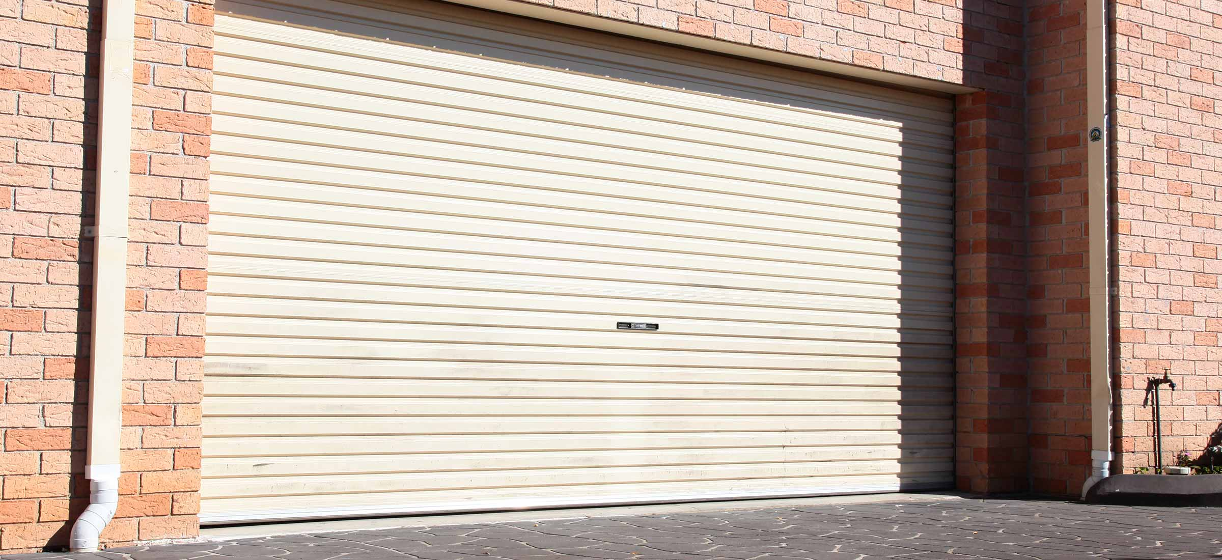 Garage roller door closed